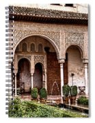 Water Gardens Of The Palace Of Generalife Spiral Notebook