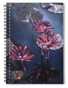 Water Lilies At Sunset Spiral Notebook