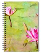 Water Lilies Inspired By Monet Spiral Notebook