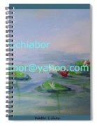Water Lilies Print Spiral Notebook