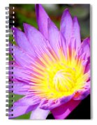 Water Lily In Purple Spiral Notebook