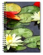 Water Lily Pond In Autumn Spiral Notebook