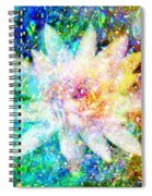 Water Lily With Iridescent Water Drops Spiral Notebook