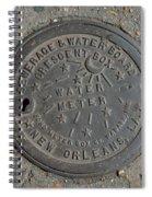 Water Meter 2 Spiral Notebook