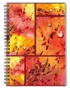 Water On Color Collage Eight Spiral Notebook