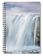 Water Over The Jetty Spiral Notebook
