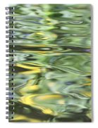 Water Reflection Green And Yellow Spiral Notebook