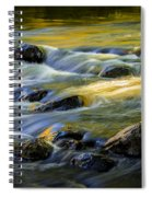Beautiful Water Reflections On The Flowing Thornapple River Spiral Notebook