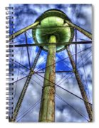 Mary Leila Cotton Mill Water Tower Art  Spiral Notebook