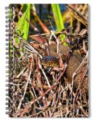 Water Snake In Hiding Spiral Notebook