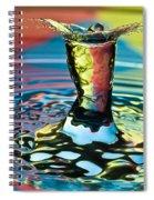 Water Splash Art Spiral Notebook