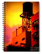 Water Tower With Orange Sunset Spiral Notebook