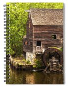 Water Wheel At Philipsburg Manor Mill House Spiral Notebook