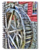 Water Wheel On Mill Spiral Notebook
