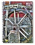 Water Wheel On Mill V2 Spiral Notebook