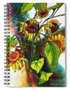 Sunflowers On The Rise Spiral Notebook