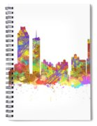 Watercolor Art Print Of The Skyline Of Atlanta Georgia Usa Spiral Notebook