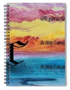 Watercolor C And Serenity Prayer Spiral Notebook