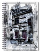 Watercolor Cluny In Paris Spiral Notebook