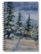 Original Watercolor - Colorado Winter Pines Spiral Notebook
