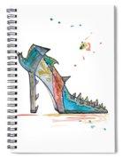 Watercolor Fashion Illustration Art Spiral Notebook