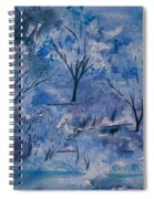 Watercolor - Icy Winter Landscape Spiral Notebook