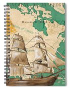 Watercolor Map 2 Spiral Notebook