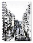 Watercolor Montmartre Spiral Notebook