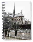 Watercolor Notre Dame Spiral Notebook