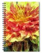 Watercolor Of Dreamy Dahlia Spiral Notebook