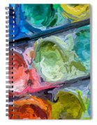 Watercolor Ovals Two Spiral Notebook