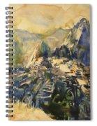 Watercolor Painting Machu Picchu Peru Spiral Notebook