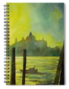 Watercolor Painting Of The Dome Of San Giorgio Maggiore Church I Spiral Notebook