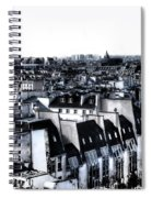 Watercolor Paris With Eiffel Spiral Notebook