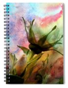 Watercolor Roses Spiral Notebook