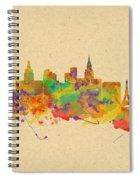 Watercolor Skyline Of Las Vegas Nevada  Usa Spiral Notebook
