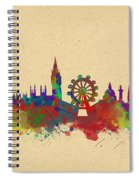 Watercolor Skyline Of London Spiral Notebook