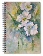 Watercolor Wild Flowers Spiral Notebook