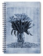 Watercolour Tulips In Blue Spiral Notebook