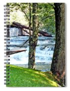 Waterfall And Hammock In Summer 3 Spiral Notebook