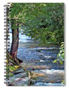Waterfall And Hammock In Summer Spiral Notebook