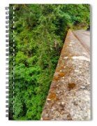 Waterfall And Old Road Spiral Notebook