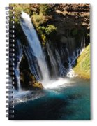Waterfall And Rainbow 4 Spiral Notebook