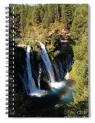 Waterfall And Rainbow Spiral Notebook