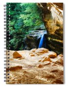 Waterfall At Cliff Side Spiral Notebook