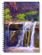 Waterfall At Coyote Creek Spiral Notebook