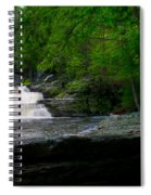 Waterfall At George W Childs Park Spiral Notebook