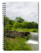 Waterfall At Valley Creek Near Valley Forge Spiral Notebook