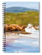 Waterfall Beach Denmark Painting Spiral Notebook