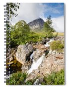 Waterfall Below Stob Dearg Spiral Notebook